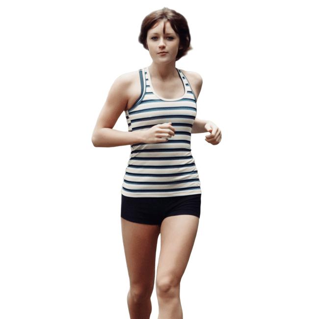 Eine Frau, die joggt.